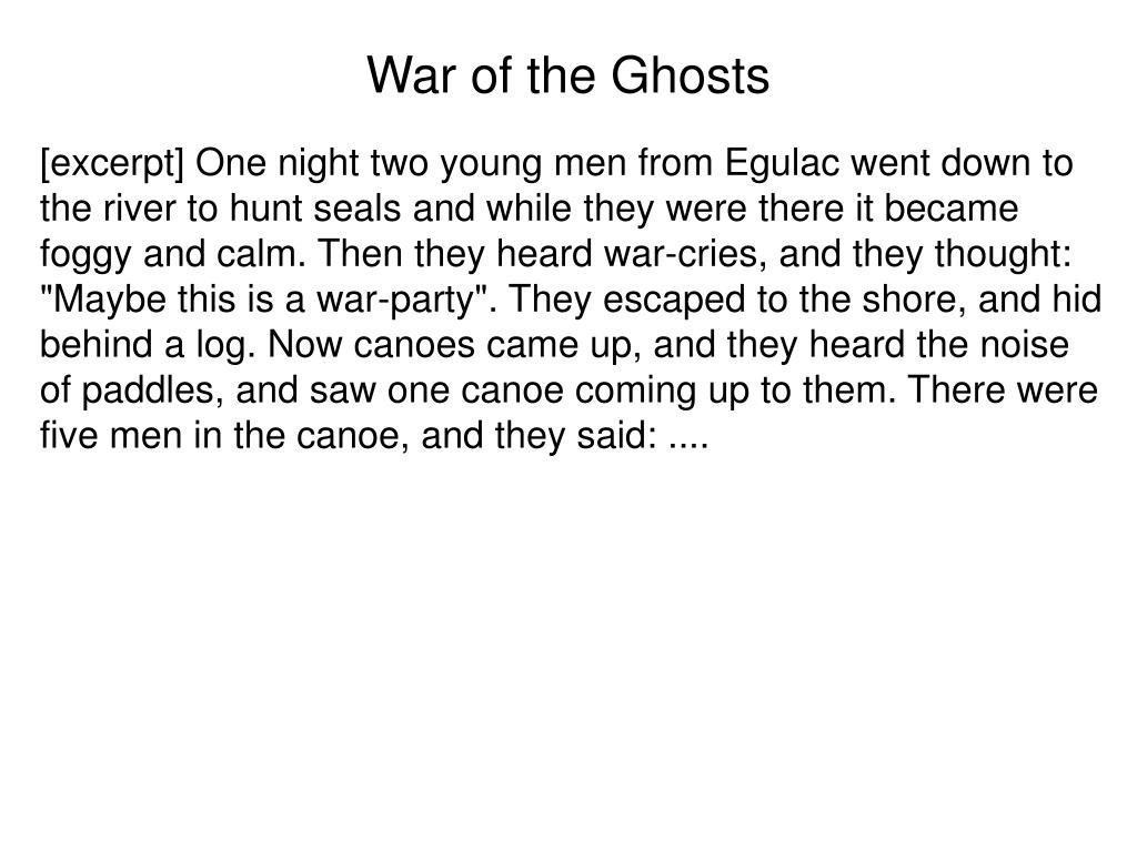 War of the Ghosts