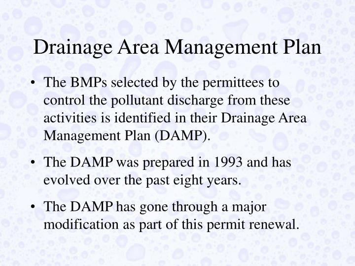 Drainage Area Management Plan