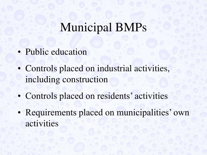 Municipal BMPs
