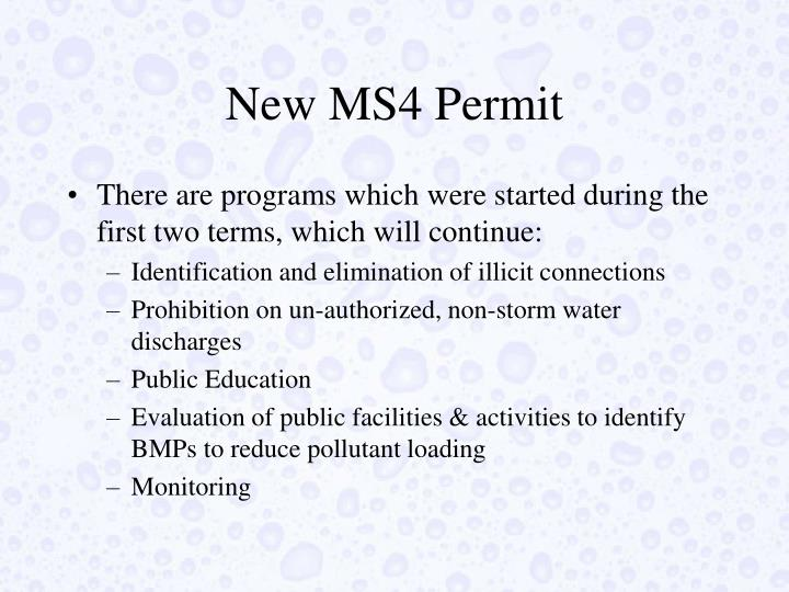 New MS4 Permit