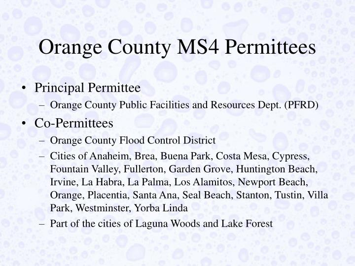 Orange County MS4 Permittees