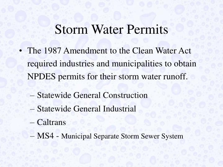 Storm Water Permits
