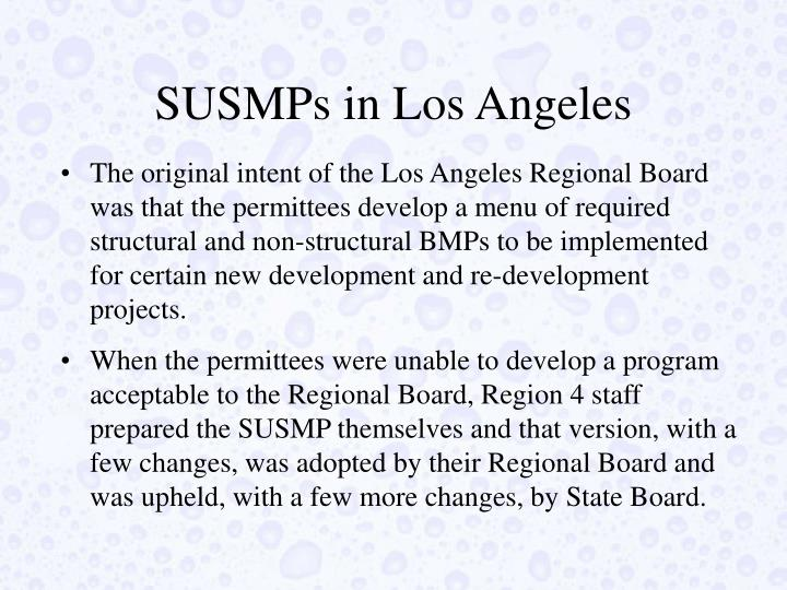 SUSMPs in Los Angeles