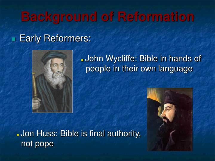 Background of reformation1
