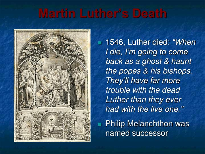 Martin Luther's Death