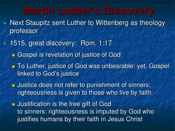 Martin Luther's Discovery