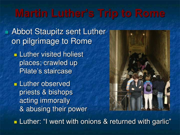 Martin Luther's Trip to Rome