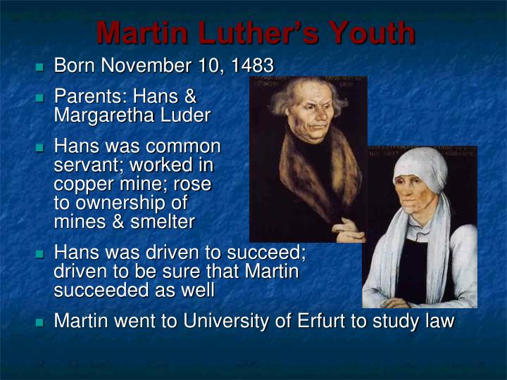 Martin Luther's Youth