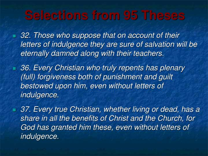 Selections from 95 Theses