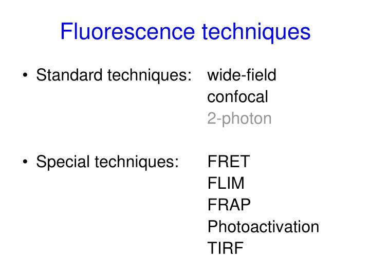 Fluorescence techniques