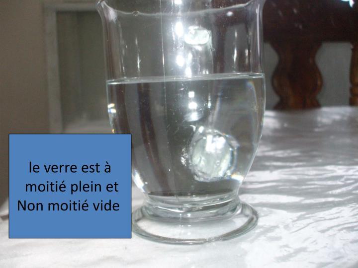 le verre est à