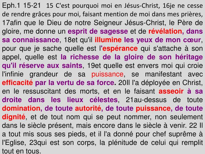 Eph.1 15-21