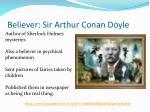 believer sir arthur conan doyle