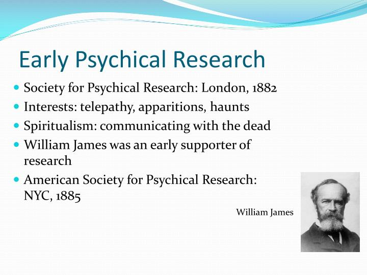 Early Psychical Research