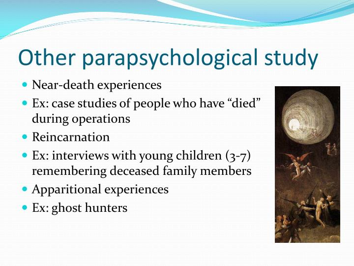 Other parapsychological study