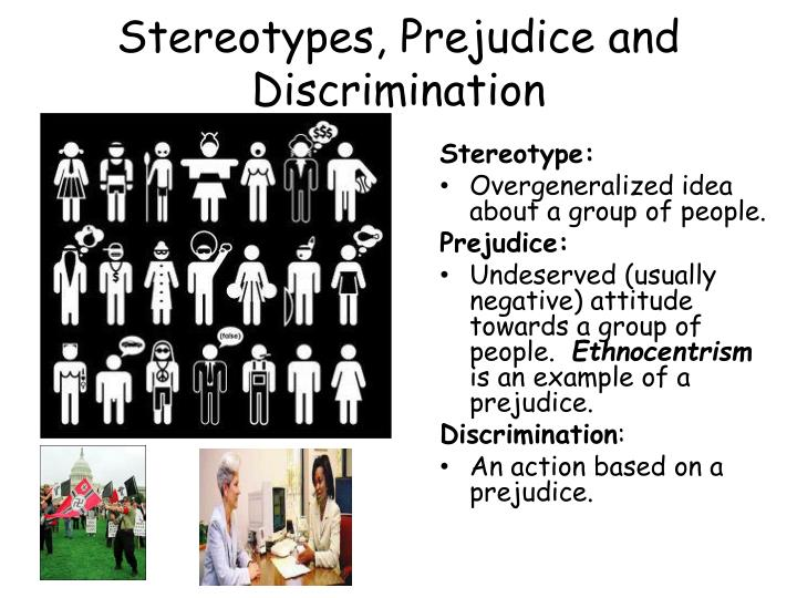 Stereotypes, Prejudice and Discrimination