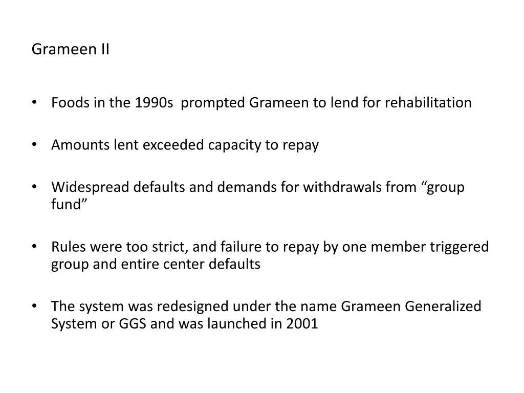 Grameen II