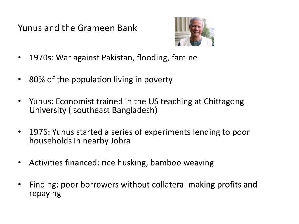 Yunus and the Grameen Bank