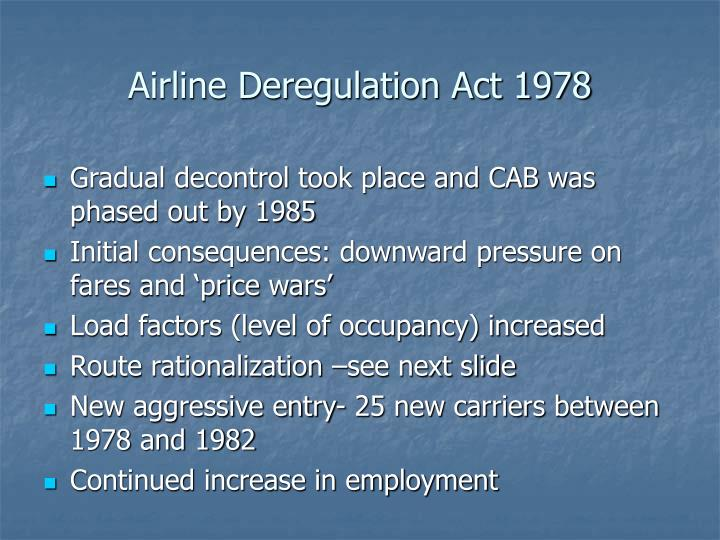 Airline Deregulation Act 1978