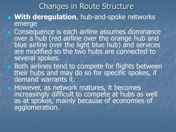 Changes in Route Structure