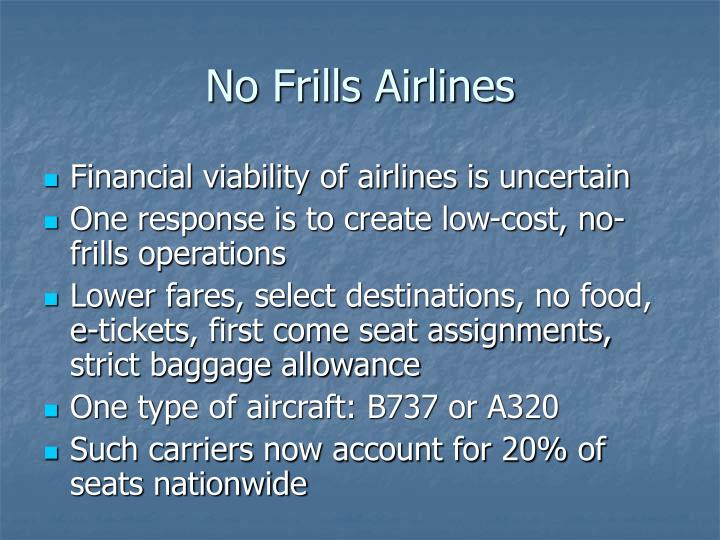 No Frills Airlines
