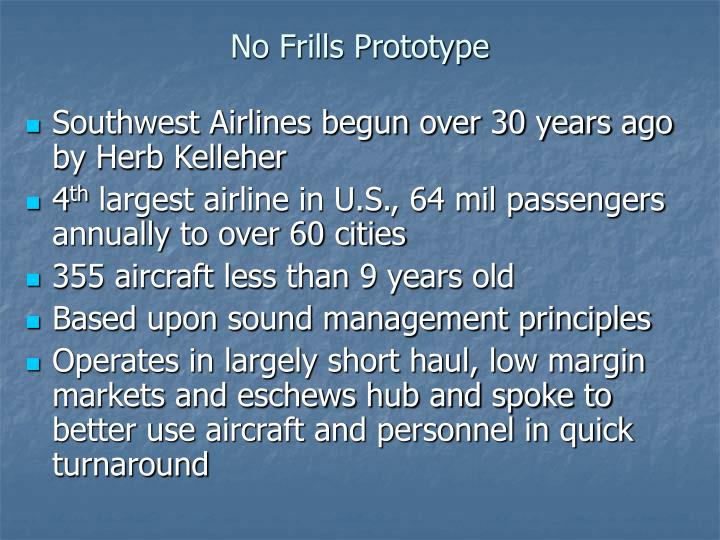 No Frills Prototype