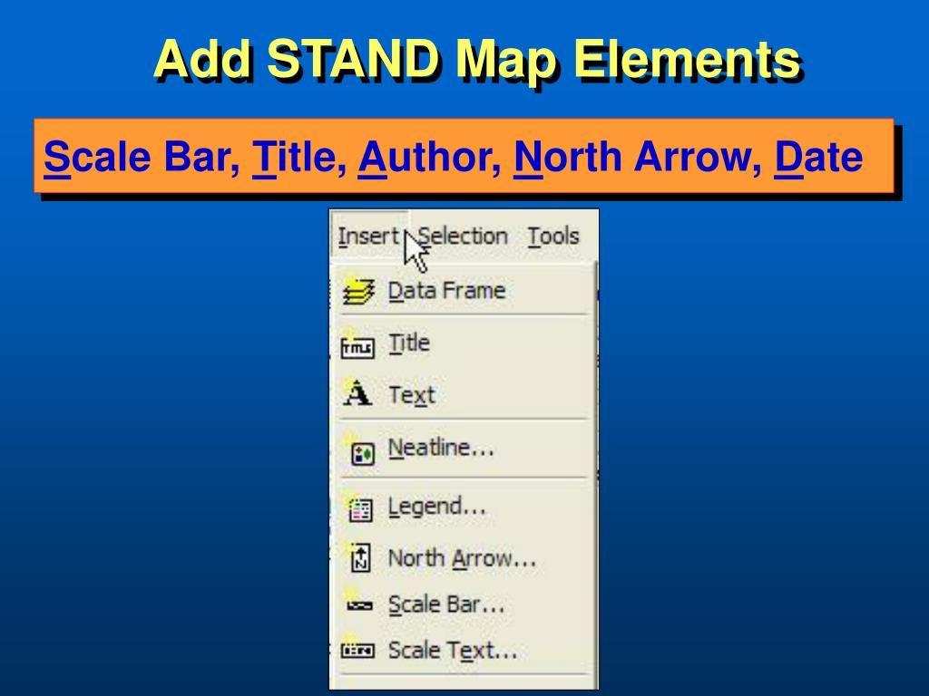 Add STAND Map Elements