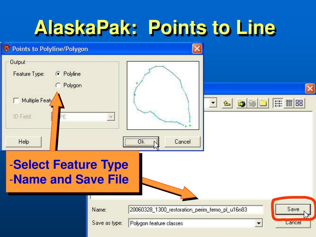 AlaskaPak:  Points to Line