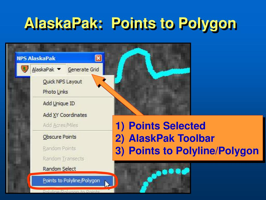 AlaskaPak:  Points to Polygon