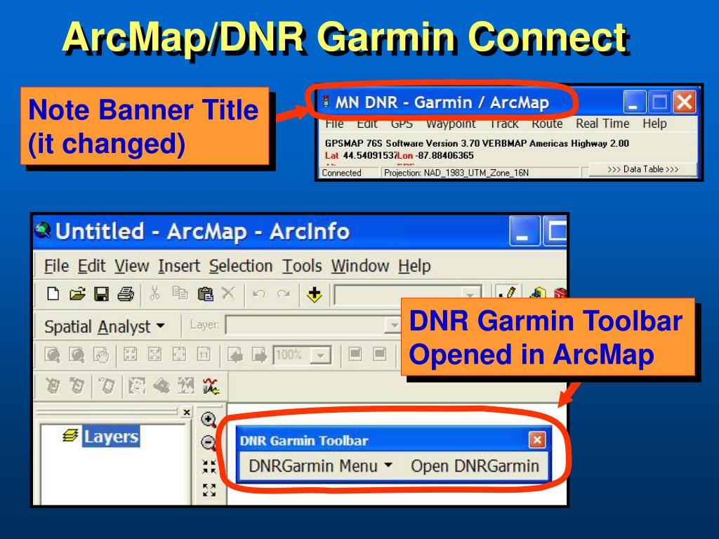 ArcMap/DNR Garmin Connect