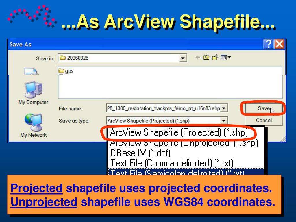 ...As ArcView Shapefile...