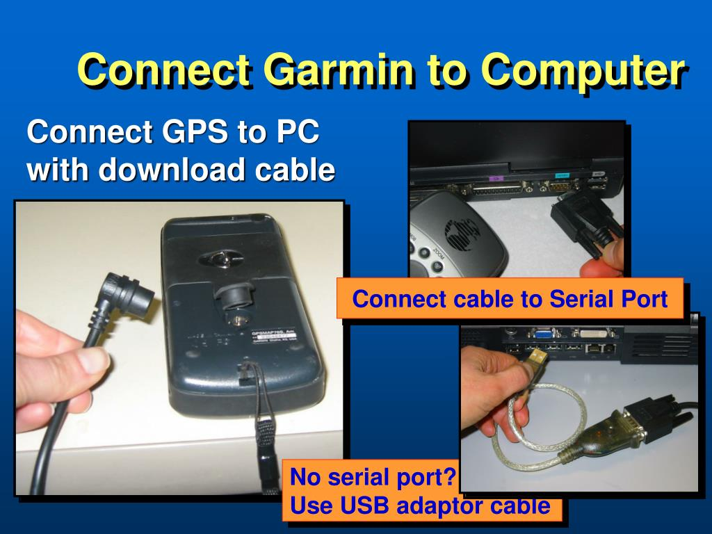 Connect Garmin to Computer