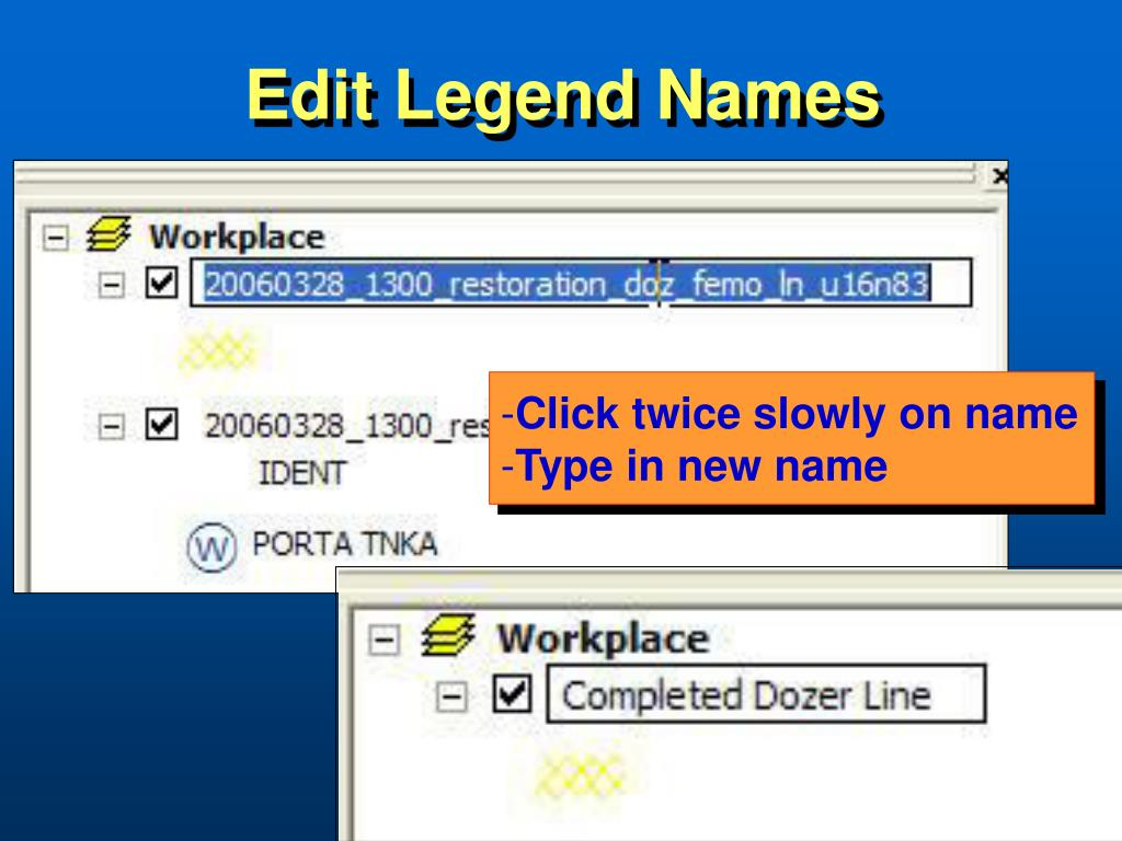 Edit Legend Names