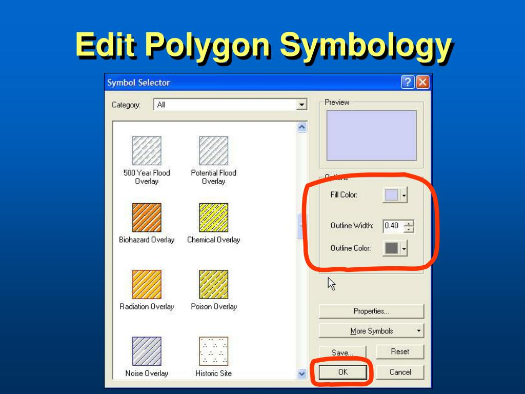Edit Polygon Symbology