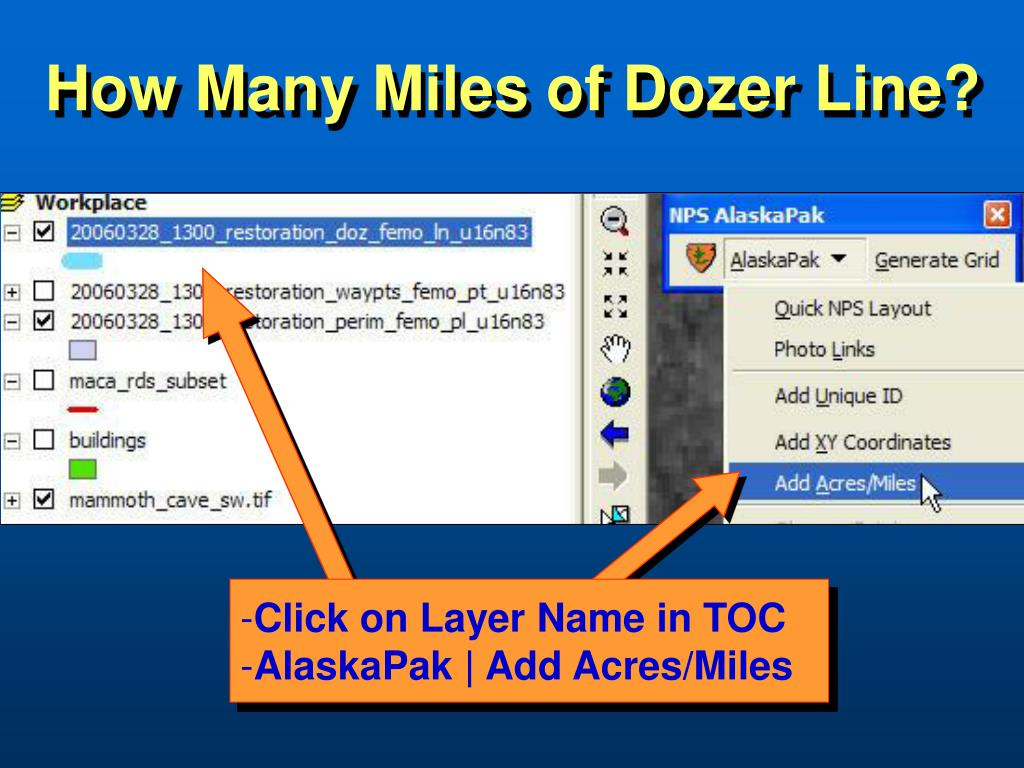 How Many Miles of Dozer Line?