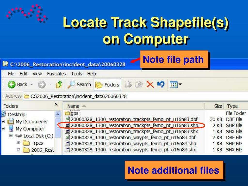 Locate Track Shapefile(s) on Computer