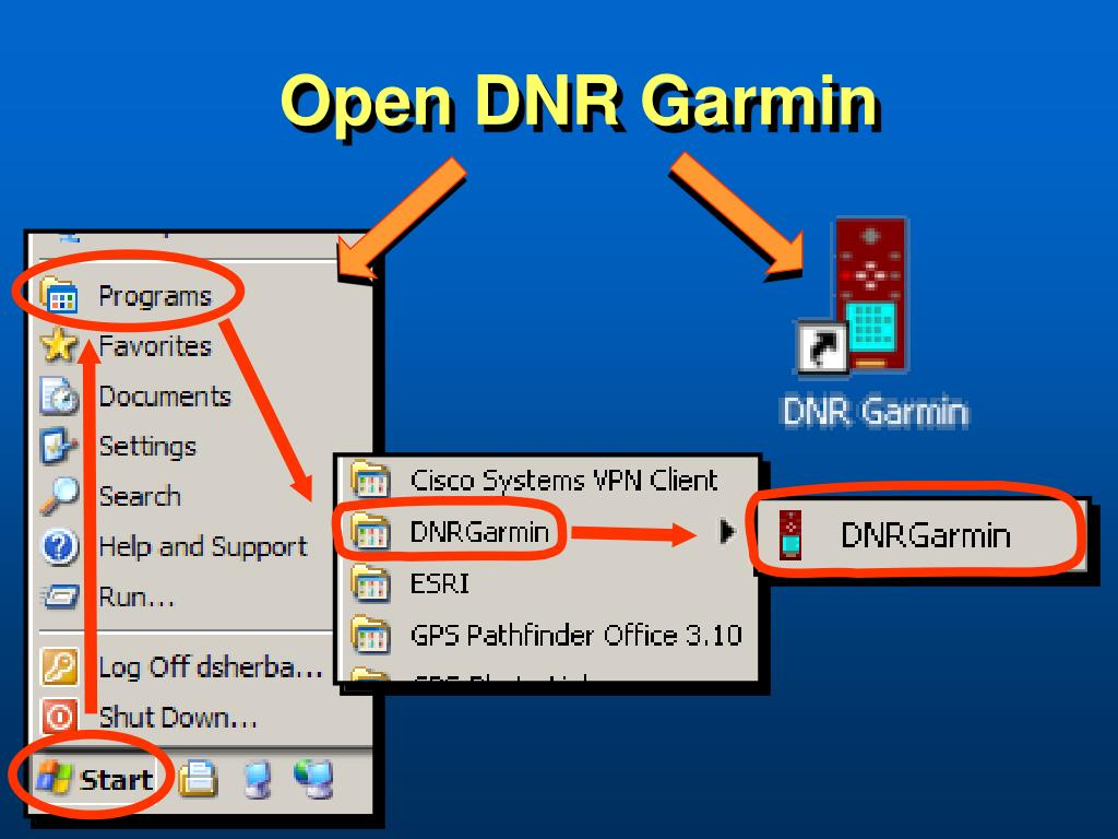 Open DNR Garmin