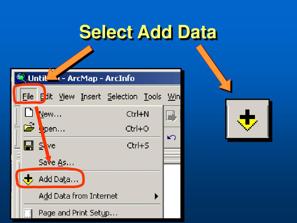 Select Add Data