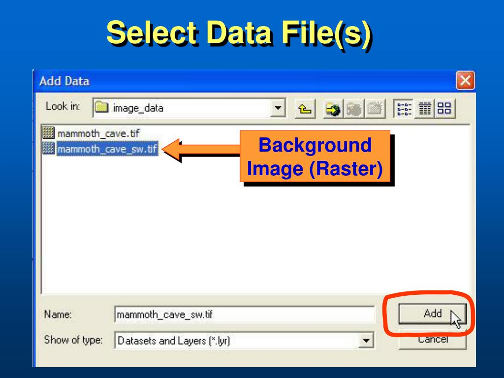 Select Data File(s)