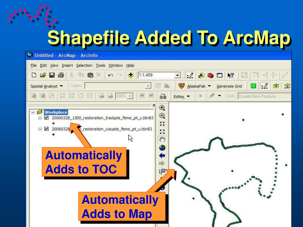 Shapefile Added To ArcMap