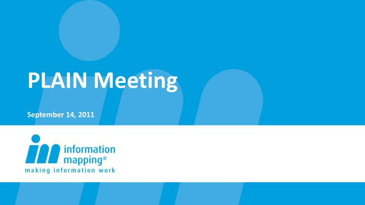 Plain meeting september 14 2011