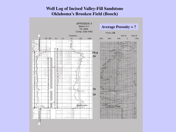 Well Log of Incised Valley-Fill Sandstone