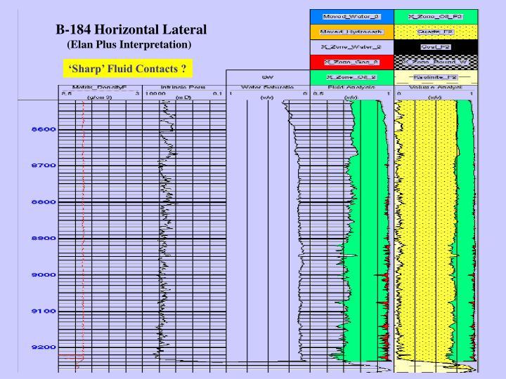 B-184 Horizontal Lateral