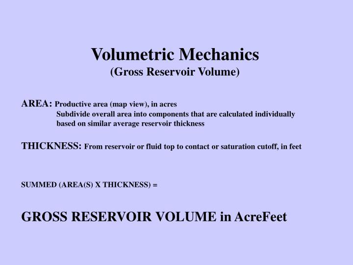 Volumetric Mechanics