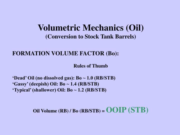 Volumetric Mechanics (Oil)