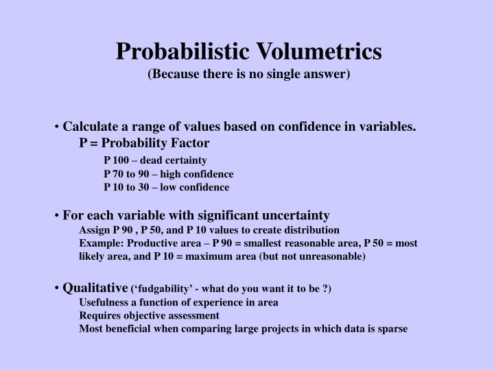 Probabilistic Volumetrics