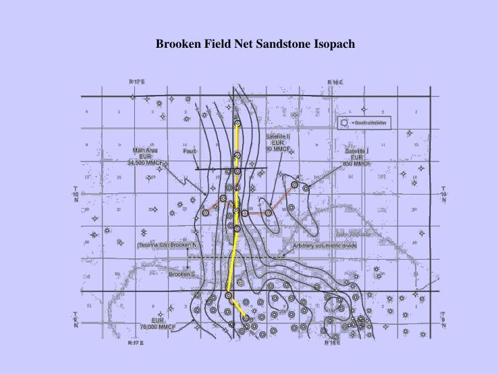 Brooken Field Net Sandstone Isopach