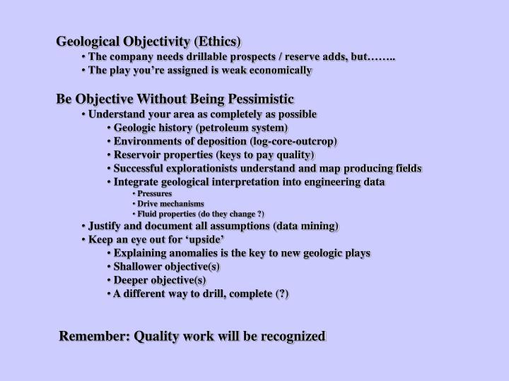 Geological Objectivity (Ethics)