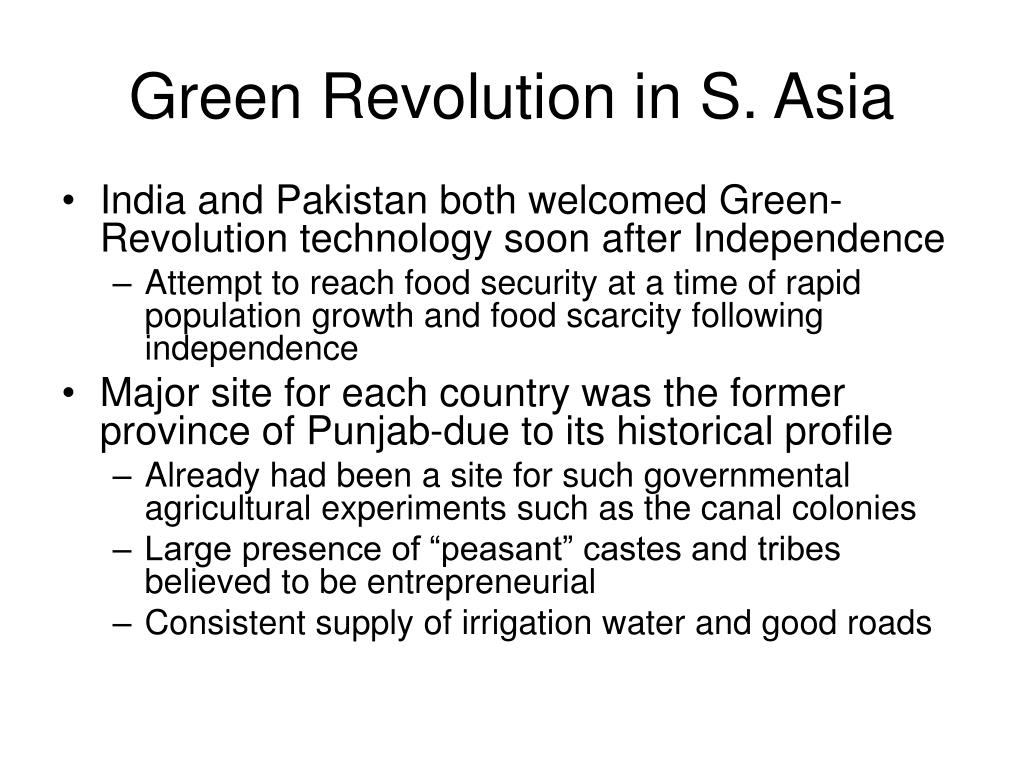 Green Revolution in S. Asia