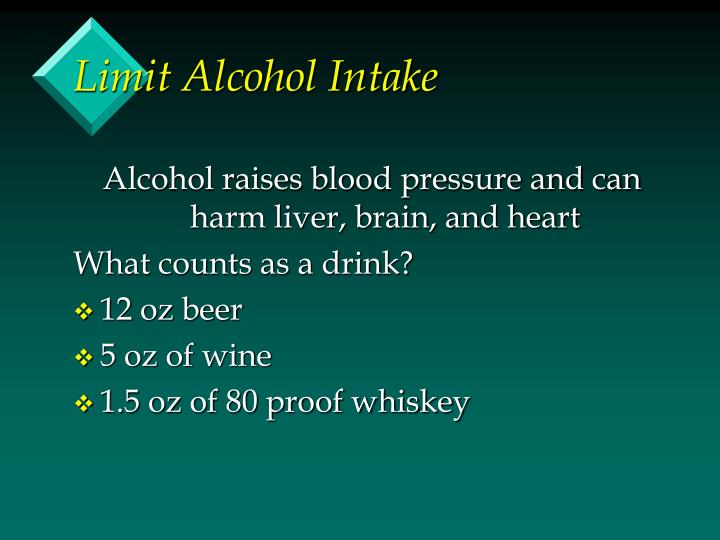 Limit Alcohol Intake